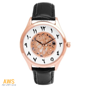 Montre Arabe Squelette Homme Or